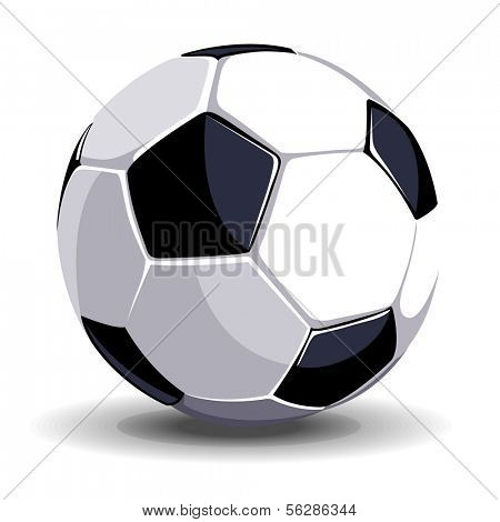 High quality isolated soccer (football) ball for sport art
