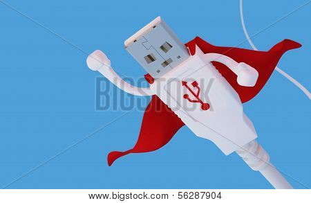 Flying Super Hero Usb Connector