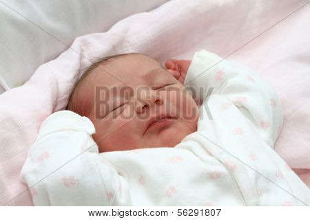 sweet baby sleeping on a blanket, newborn baby