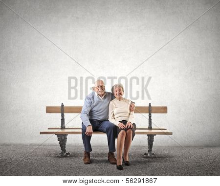 Sat Old Couple