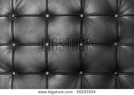 Black leather couch texture