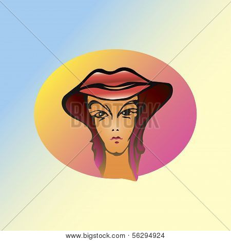 hat smiling