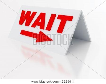 sign wait