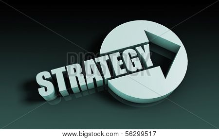 Strategy Concept With an Arrow Going Upwards 3D