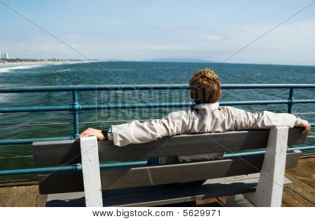 Man Looking At Ocean
