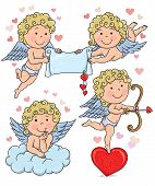 stock photo of cupid  - Cupids kids 2 - JPG