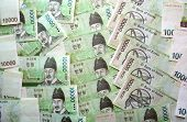 stock photo of won  - Korea South Korean Won bank notes various denominations - JPG