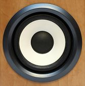 round bass sound speaker close-up