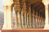 stock photo of india gate  - columns in palace  - JPG