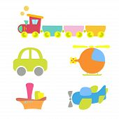 stock photo of loco  - cartoon baby transport - JPG