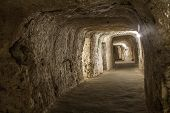 stock photo of catacombs  - old Catacombs of Saint Paul to Malta - JPG