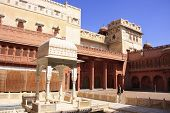 Main Courtyard Of Junagarh Fort, Bikaner, India