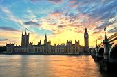 image of westminster bridge  - Westminster Abbey With Big Ben - JPG