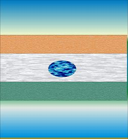 foto of ashok  - A stylized version of the Indian national flag - JPG