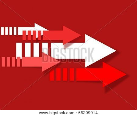 Abstract colored arrows pointing to the right