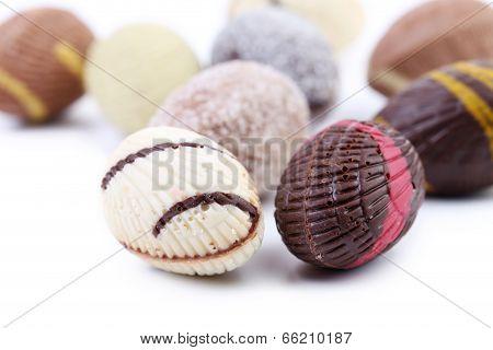Chocolate seashells and stones.
