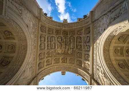 Architectural Detail Of Arc De Triomphe Du Carrousel