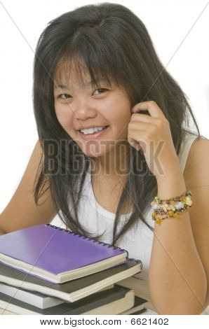 Young Asian female student