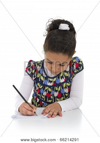 Homework Young Girl
