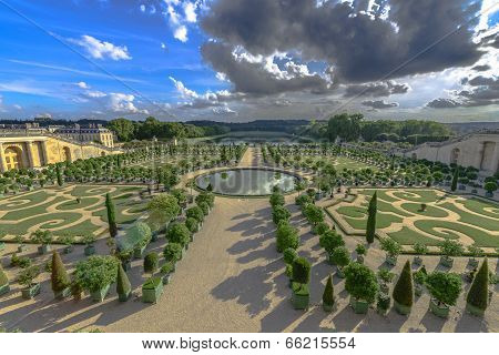 Gardens Of Versailles In A Sunny Clear Day