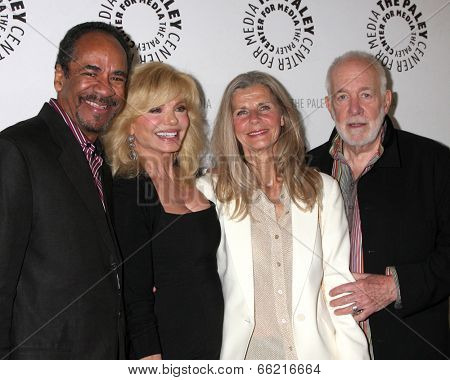 LOS ANGELES - JUN 4:  Tim Reid, Loni Anderson, Jan Smithers, Howard Hesseman at A WKRP in Cincinnati Reunion at Paley Center For Media on June 4, 2014 in Beverly Hills, CA