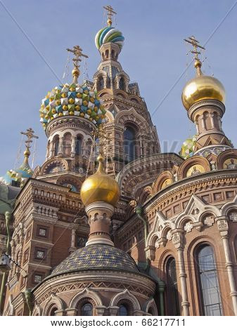 Detail Of Church Of The Saviour On Spilled Blood, St. Petersburg, Russia
