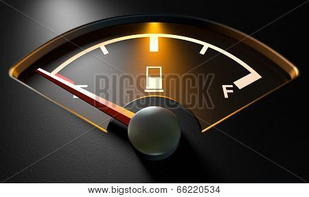 Gas Gage Illuminated Empty