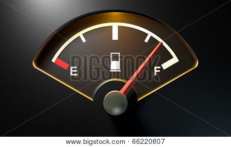 Gas Gage Illuminated Full