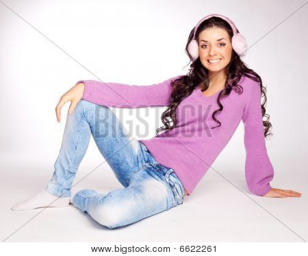Pretty Girl With Earmuff