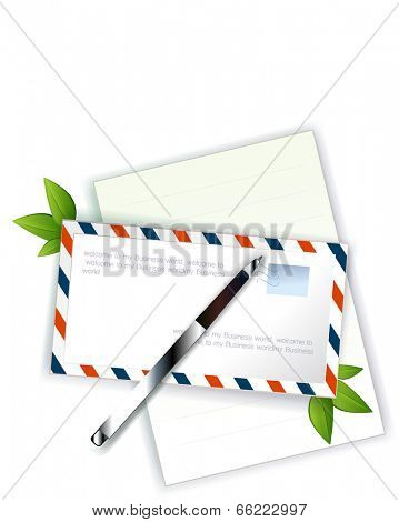 The view of letter envelope