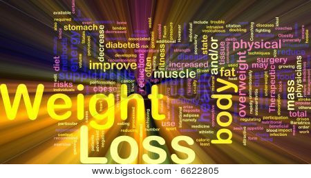 Weight Loss Background Concept Glowing