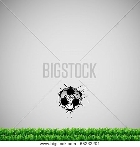 Football Or Soccer Vector Background Card