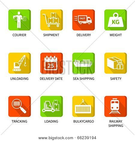 Logistic icons buttons