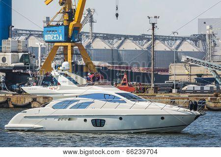 Speedboat In Harbor