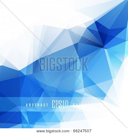 Crystal blue triangle colorful abstract design background template