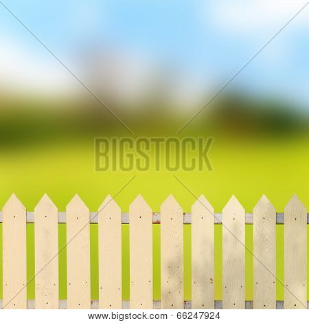 White Fences In The Garden