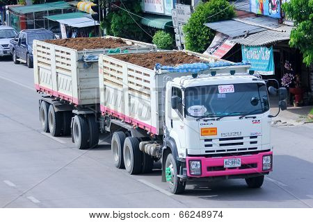Trailer dump truck of Tanachai company.