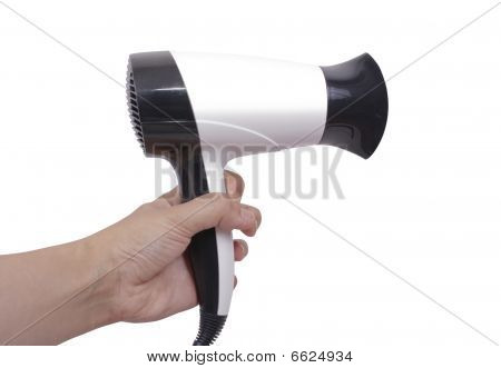 Hair Dryer In A Hand