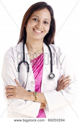 Happy Indian Female Doctor