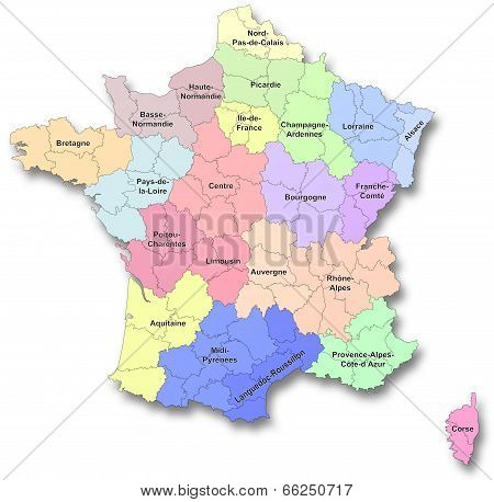 New regions of France