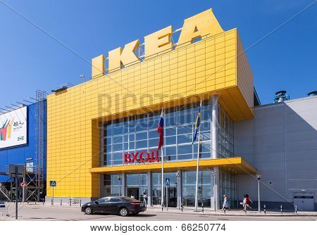 Samara, Russia - June 1, 2014:  Ikea Samara Store. Ikea Is The World's Largest Furniture Retailer An