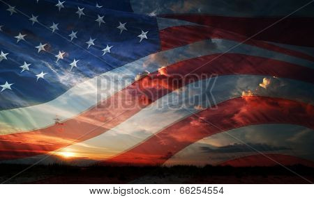 Independence Day. Flag Usa