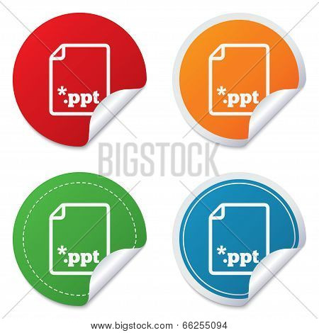 File presentation icon. Download PPT button.