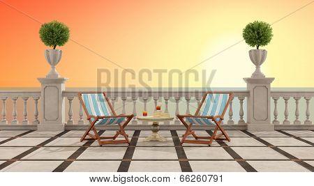 Romantic Aperitif At Sunset