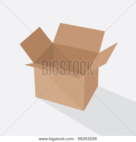 Recycle brown box packaging. vector illustration