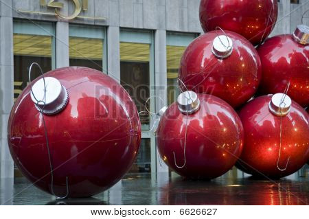 Gigantic Ruby Christmas Balls