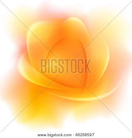 Yellow abstract blurred background with light lines and shadows.