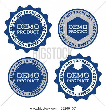 Demo product labels with