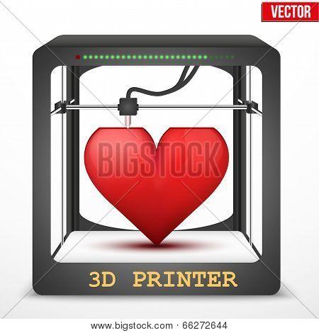 Heart transplant. 3D printer for the internal organs.