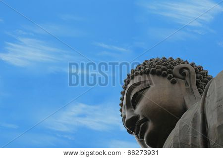 Buddha And Bright Blue Sky